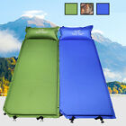 Single Inflatable Air Bed Pad Travel Camping Hiking Mat Mattress With Pillow