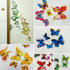 12PC 3D Simulation Butterfly Sticker Wall Poster Home & Garden Room Decoration