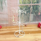 Rotating 2-Tier Revolving Stand Rack Jewelry Keyring Toy Great Display Hanger S1