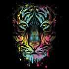 Dripping Tiger Size 2 X Large-7 X Large Mens Tank Tops