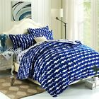 EsyDream Home Bedding,Ocean Shark Design Kids Duvet Cover Sets,Queen Twin Size