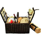 Picnic at Ascot Surrey Willow Picnic Basket with Outdoor Accessorie NEW