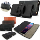 Genuine Leather Magnetic Belt Holster Clip Pouch Case Cover Huawei Smart Phones