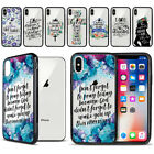"For Apple iPhone X 5.8"" Bible Verses Hybrid Clear TPU Black Bumper Case Cover"