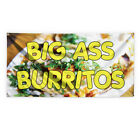 Big Ass Burritos Advertising Printing Vinyl Banner Sign With Grommets