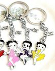 LOVE Betty Boop enamel charm key chain, fob handmade key ring pink or yellow $3.5 USD on eBay