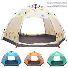 festival pop up tent - Double Layer canopy Sun Protection Automatic pop up Festival Family Hiking Tent