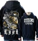 DYSE ONE Clothing Kalifornien CRAZY LIFE Hoodie Hoody Sweater schwarz black