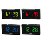 Electronic Digital LED Alarm Clock 2'' Large Screen 24 Hour Display US Plug