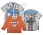 Harley-Davidson Boys Youth 2 Piece B&S Logo Yarn Dyed Orange Shirt Set $9.99 USD on eBay