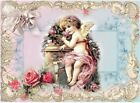 Whimsy Dust Angel & Roses Crazy Quilt Block Multi Sz FrEE ShiP WoRld WiDE (W42