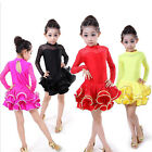 Внешний вид - Red Girls Professional Latin Dancewear Costumes Kids Ballroom tutu Dance Dress