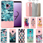 "For Samsung Galaxy S9 5.8"" Pattern Slim Sparkling Light Pink TPU Case Cover"