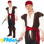Pirate Costume Captain Mens Adult Man Caribbean Halloween Fancy Dress Outfit