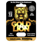 GOLD LION male enhancement pill stronger erections stamina energy size $12.95 USD on eBay