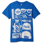 ADIDAS ORIGINALS SUPERSTAR SST LOOK TEE HERREN SHIRT BBLUEBIRD BLAU WALKMAN TAPE