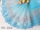 Купить 1 Yard Delicate  Embroidered Flower Tulle Lace trim Wedding/sewing/craft Lace 63