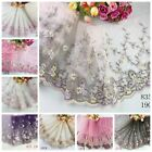 Внешний вид - 1 Yard Delicate  Embroidered Flower Tulle Lace trim Wedding/sewing/craft Lace 63