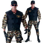 CL878 Deluxe SEAL Team Army Mens Camo Navy Military Uniform Halloween Outfit