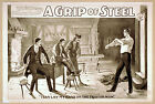 Photo Printed Old Poster: Stage Drama Flyer Theatre Show A Grip Of Steel Romanti