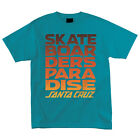 Santa Cruz Skateboarders Paradise Regular Fit S/S T-Shirt Turquoise