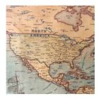 World Map Nautical Ocean Sea Retro old Art Paper Painting Home Decor Poster USA
