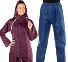 Ladies Adults Suit Jacket and Trousers Rain Wear Set Lightweight Shower Proof