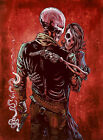 Love, Trust and a Revolver by David Lozeau Wild West Skeleton Giclee Art Print