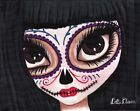 I See You by Dottie Gleason Day of the Dead Sugar Skull Mask Canvas Art Print