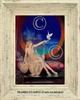 ART DECO BLONDE WOMAN with DOVE Lingerie Persia Antique Repro ART PRINT Clive