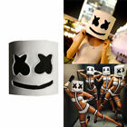 LED Mask Marshmello Helmet Cosplay Costume Halloween Party Props1X Bar DJ Mask