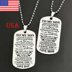 Fashion Unisex Stainless Steel To My Son Daughter Bead Chain Letters Necklace Us