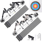 Right Hand Compound Bow Kit Carbon Arrows Set 20-70lbs Target Hunting Camo Black