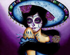 The Blue Sombrero by Cat Ashworth Canvas or Paper Rolled Art Print