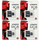 Kingston 4GB 8GB 16GB 32GB Class 4 microSD SDHC Memory Flash Card Retail Pack