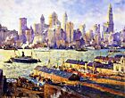 New York from Brooklyn by C. Cooper. Wall Art Repro. Made in U.S.A Giclee Prints
