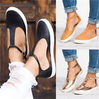 Women's Hollow Loafer Canvas Flats Slip On Shoe Indoor Outdoor PU Nude Shoes