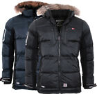 Geographical Norway Herren SEHR WARM Winter Jacke Parka steppjacke Mantel DANONE