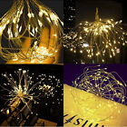 Firework Solar Power LED String Copper Wire Fairy Lights Xmas Party Decor Lamp