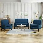 Nash Contemporary Loveseat Chat Set