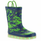 Western Chief Digital Camo LED Boys' Toddler-Youth Boot - Navy