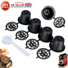 4x Refillable Reusable Coffee Capsules Pods For Nespresso Machines Spoon G2L5