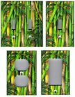 GREEN BAMBOO TROPICAL HOME WALL DECOR LIGHT SWITCH PLATES AND OUTLETS