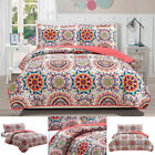 Daphne Printed 3 Pieces Reversible Quilt Set, 2 Shams By RT Designers Collection image
