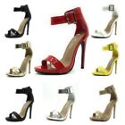 New Sexy Open Toe Pump Women's Shoes Cross Strap Ankle Strap High Heels Sandals
