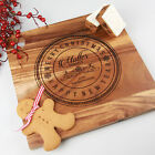 Personalised Engraved Christmas Deluxe Chopping / Cutting / Cheese Board Gift