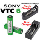 Sony 18650 VTC6 3000mAh 3.7V High Drain Rechargeable Battery 18650 Charger lot