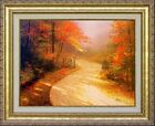 Thomas Kinkade Autumn Lane 16x20 Classic Edition Framed Canvas Fall