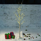 1.2M 48LED Warm White Silver Birch Twig Tree LED Branches Light Home Garden US
