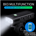 Rechargeable MTB Bicycle Front Light Bike Headlight LED Lamp Flashlight Charging